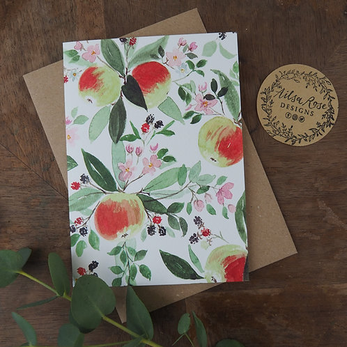 Apple Greetings Card