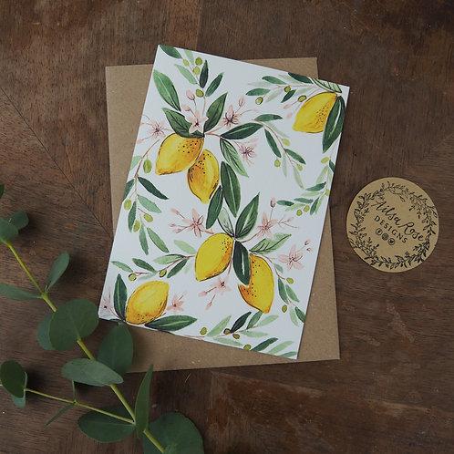 Lemon Greetings Card