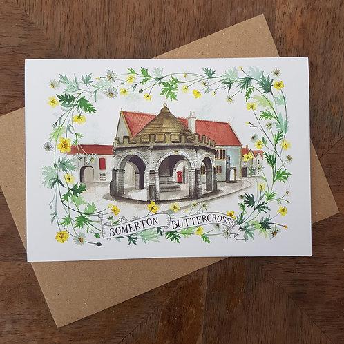 Somerton Buttercross A6 Greeting Card
