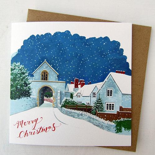 Hanging Chapel, Langport Christmas Card