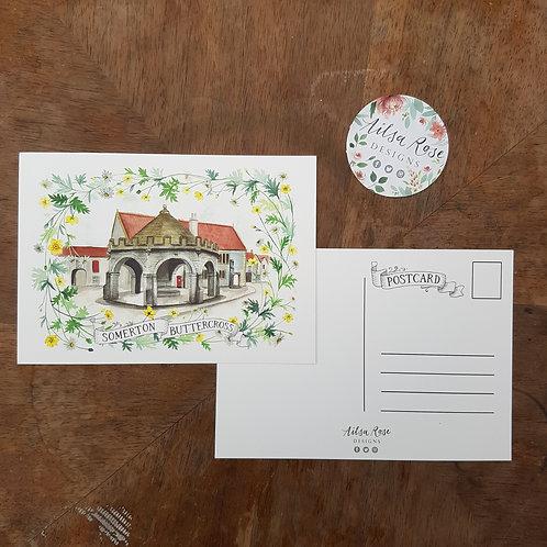 Somerton Buttercross Postcard