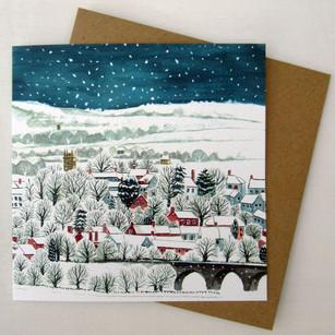 View of Langport Christmas Card