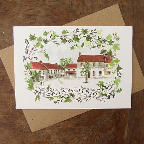 Somerton Market Place A6 Greeting Card