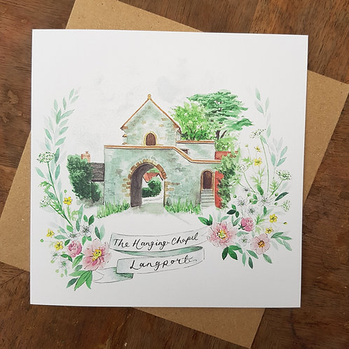 Hanging Chapel, Langport Greeting Card