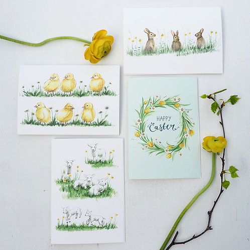 Easter Cards Pack of 4