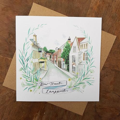Bow Street, Langport Greeting Card