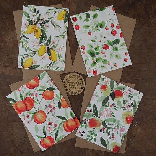 4 Fruity Notelets
