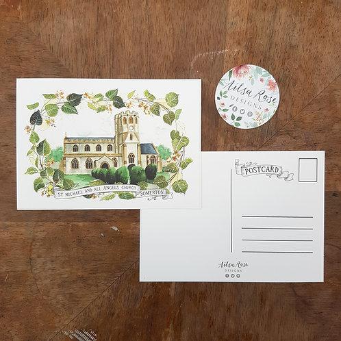 Somerton Church Postcard