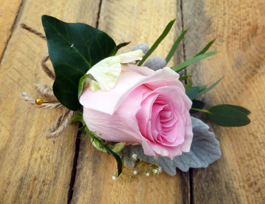 Pink Avalanche Rose Buttonhole