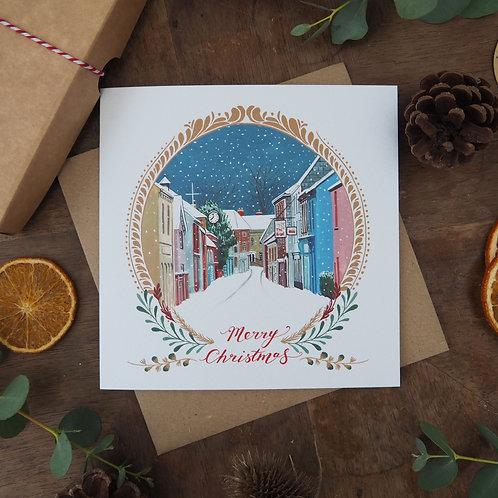 Bow Street, Langport Framed Christmas Card
