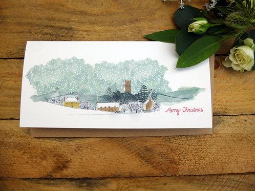 View of Muchelney Christmas Card