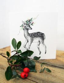 Doe a Deer Christmas Card