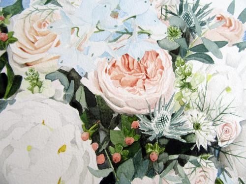 Bespoke Wedding Bouquet Painting