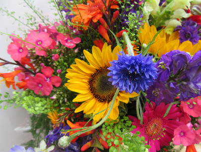 Bright and colourful bouquet