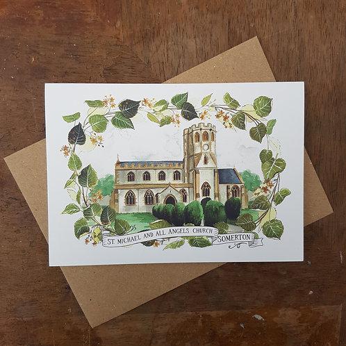 Somerton Church A6 Greeting Card