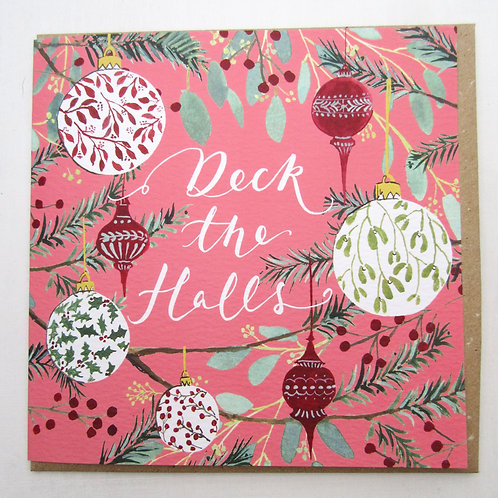Deck the Halls Christmas Card