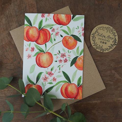 Peach Greetings Card