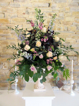 Flower Display at the Almonry Barn