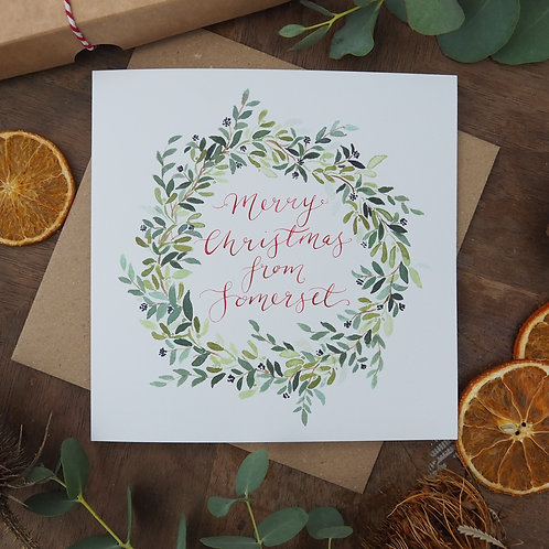 Merry Christmas from Somerset Christmas Card