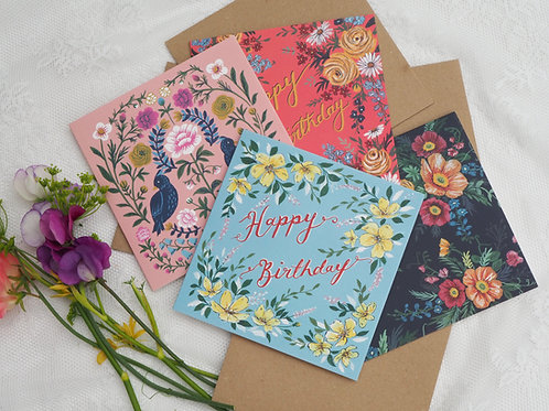 Pack of 4 Cards, one of each design