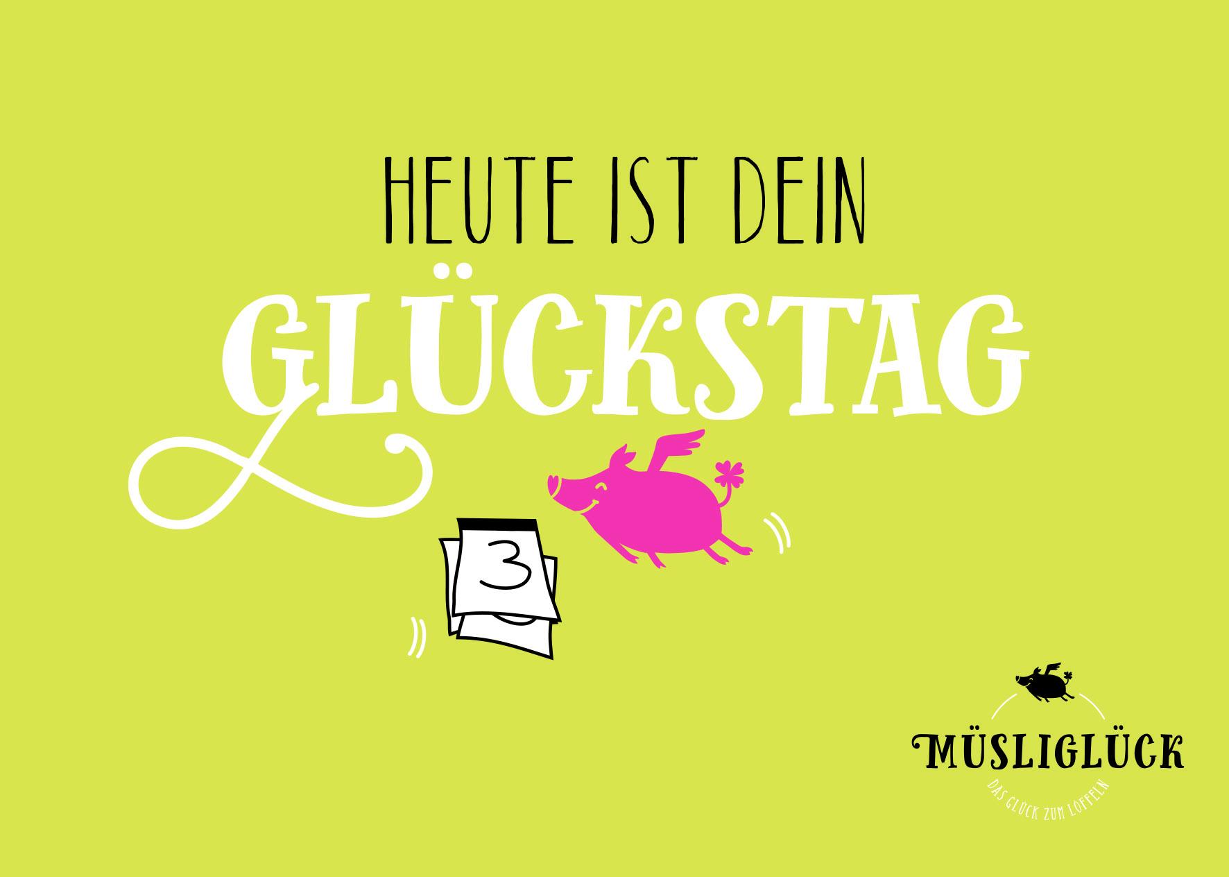 Postkarte Müsliglück