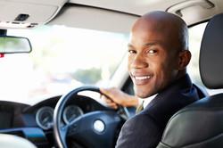 client behind wheel