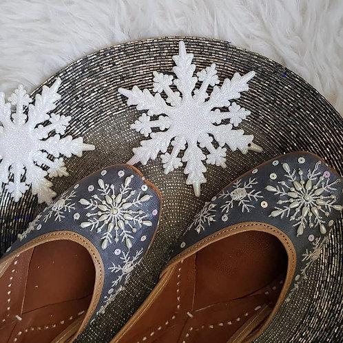 Snowflakes Grey Jutti
