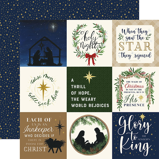 4x4 Journaling Cards- Silent Night Collection