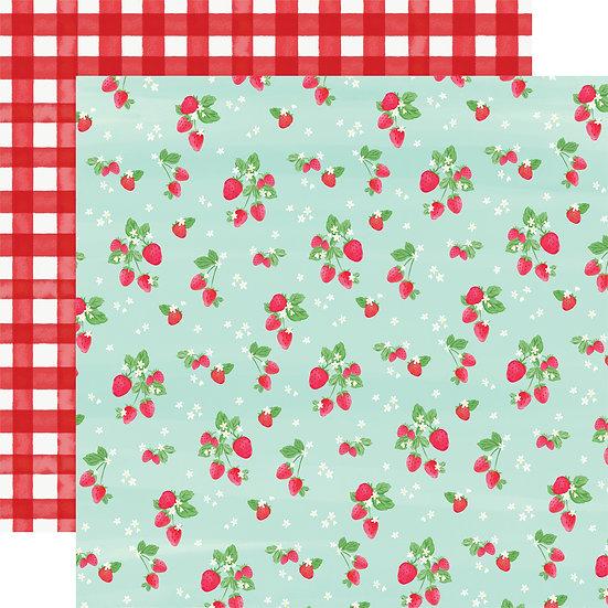 Strawberries - Carta Bella Summer Market Collection