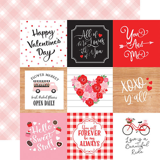 4x4 Journaling Cards - Cupid & Co. Collection