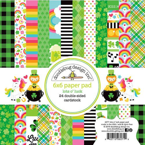 Lots o Luck 6x6 Paper Pad - Doodlebug Design Inc.