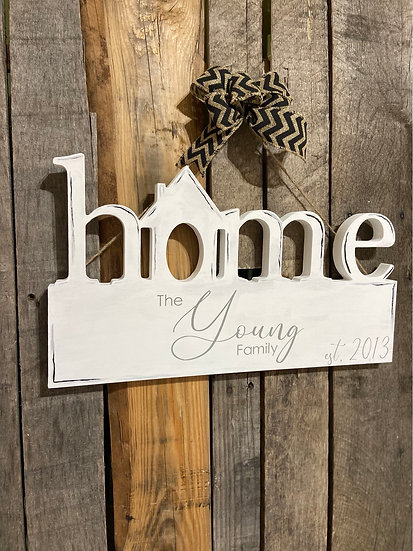 Home with House Door Hanger