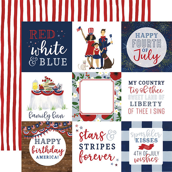 4x4 Journaling Cards - America the Beautiful Collection