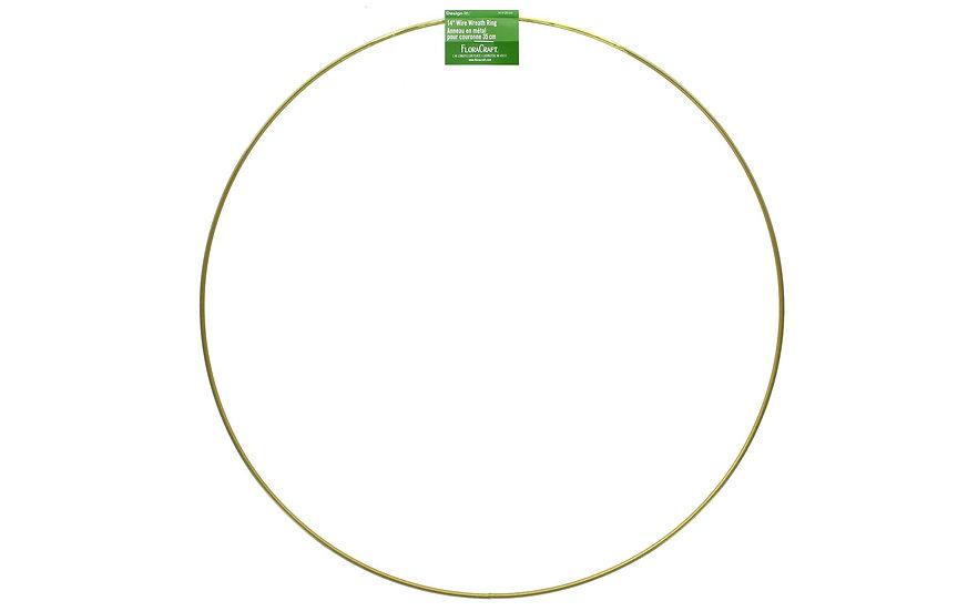 """Gold Wreath Hoop 14"""""""