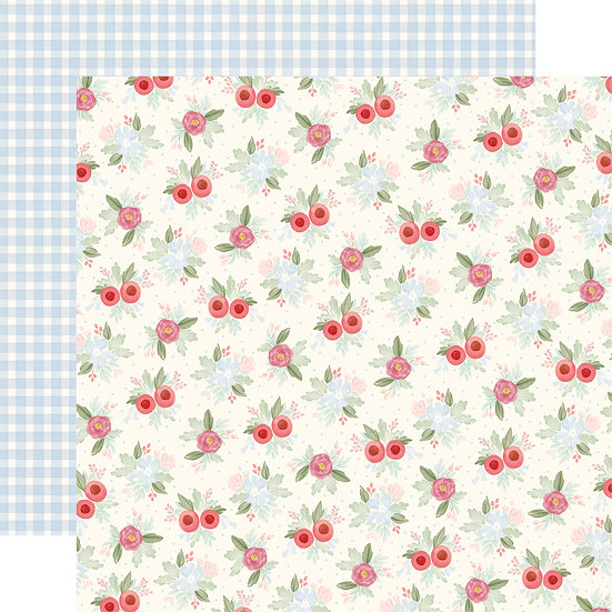 Vintage Floral - Carta Bella Farmhouse Market Collection