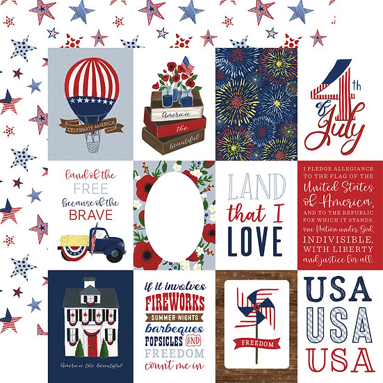 3x4 Journaling Cards - America the Beautiful Collection