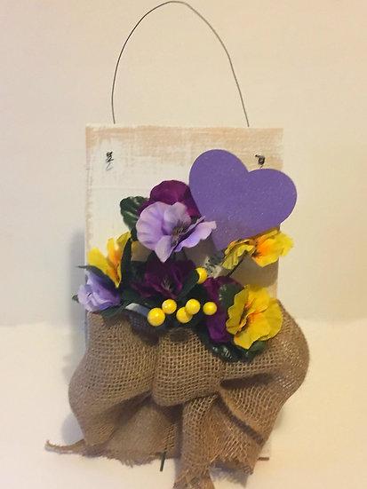 Valentines Flowers Door Hanger
