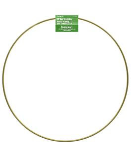 Gold Wreath Hoop 10""