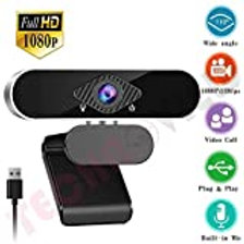 V.T.I. HD Webcam with Microphone, Auto Focus HD 720P Web Camera for Video Callin