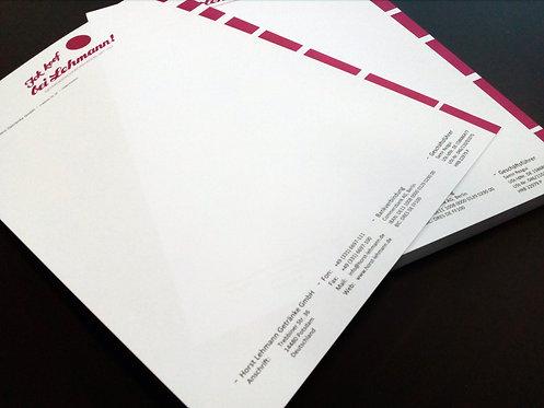 Briefbogen Sonderfarben