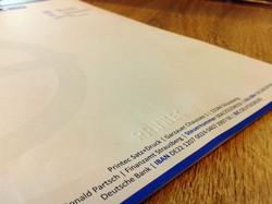 Briefbogen mit Prägung