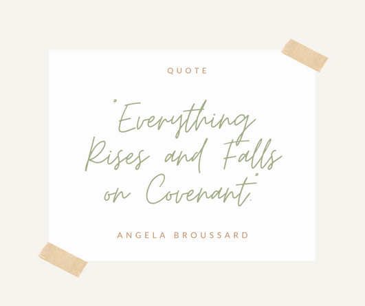 """Everything Rises and Falls on Covenant."