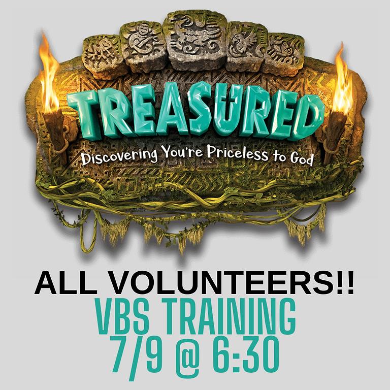 VBS Training ALL VOLUNTEERS