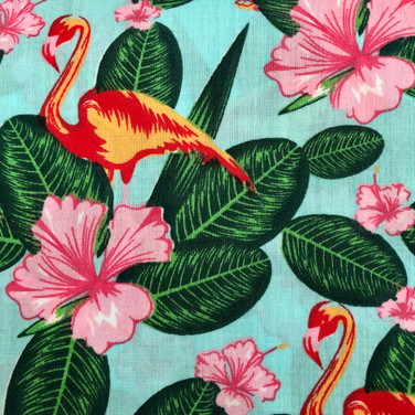 28 Aqua Tropical Flamingos
