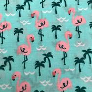 24 Aqua Flamingos