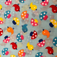 35 Blue Birds and Mushrooms