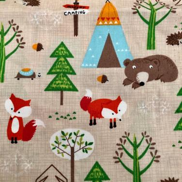 12 Beige Fox and Bears