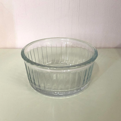 Striped Glass Dish