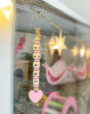 Wooden Hanging Name Tag
