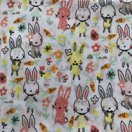 18 Pastel Bunnies Carrots